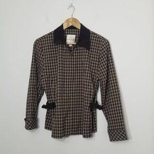 Joseph Ribkoff Sport | Brown Plaid Zipper Jacket 8